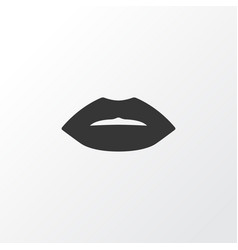 Lip icon symbol premium quality isolated mouth vector