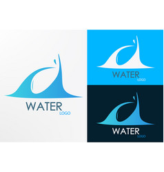 logo water wave vector image vector image
