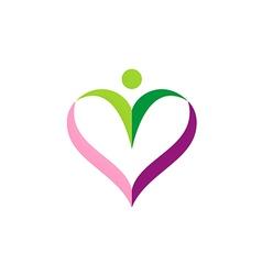 love sign people valentine logo vector image