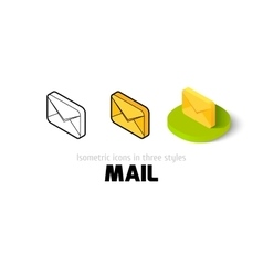 Mail icon in different style vector image