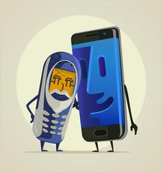 Modern smartphone grandson vector