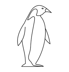 Penguin icon outline style vector