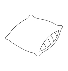 Pillow icon in outline style isolated on white vector