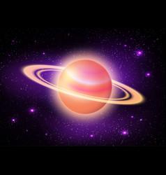 Planet in deep space vector