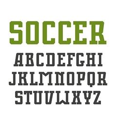 Slab serif font in urban style vector