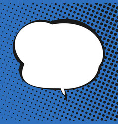 Speech bubble on blue retro background vector