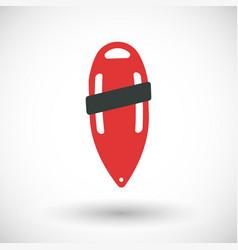 torpedo buoy flat icon vector image vector image