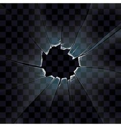 transparent the broken glass vector image