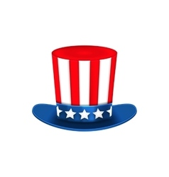 Uncle sam hat for american holidays isolated on vector
