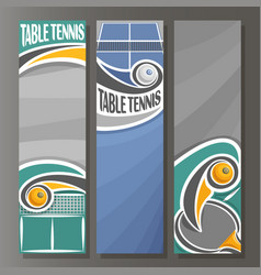 Vertical banners for table tennis vector