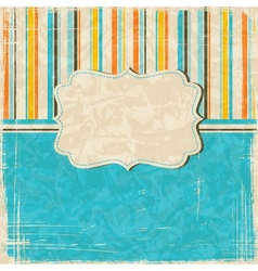Vintage scratch background with place for text Eps vector image