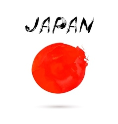 with word Japan vector image