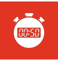 The 50 seconds minutes stopwatch icon clock and vector