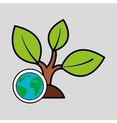 global ecological concept design vector image