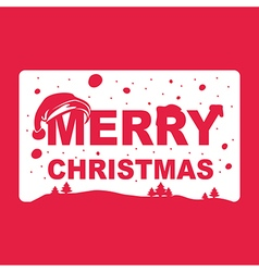 Merry christmas text isolated on background vector