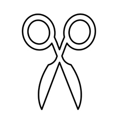 Sewing scissors isolated icon vector
