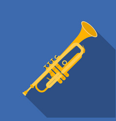 Trumpet icon in flat style isolated on white vector