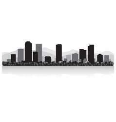 Denver usa city skyline silhouette vector