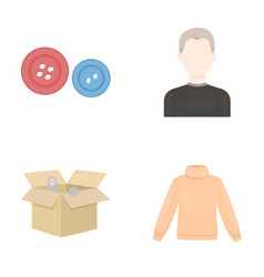 business textiles salam and other web icon in vector image