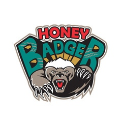 Honey badger mascot front vector