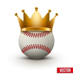 Baseball ball with royal crown vector image