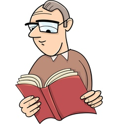 Reader cartoon vector