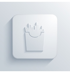 Modern french fries light icon vector