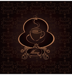 Coffee scroll vector