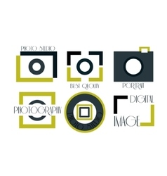 Collection of photography logo vector