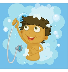Shower time vector image