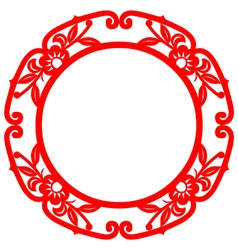 Chinese art frame vector