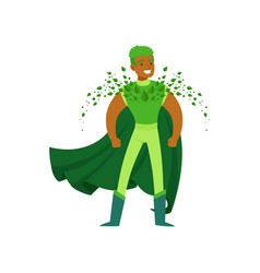 Black man superhero with supernatural powers in vector