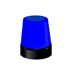 Blue police light vector image
