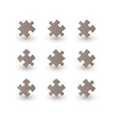brown puzzle pieces vector image