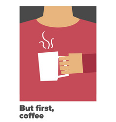 but first coffee vector image vector image