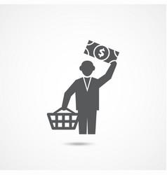 buyer icon on white vector image