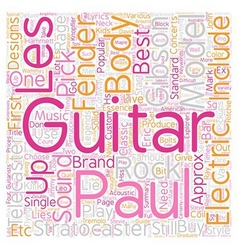 Buyers guide to electric guitars text background vector