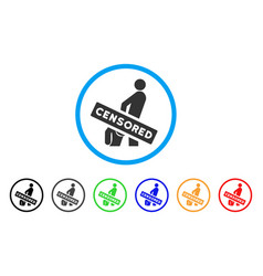 Censored oral sex persons rounded icon vector