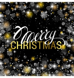 Christmas shining on black background with shiny vector