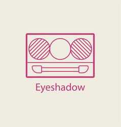 Cosmetic eyeshadow thin line icon vector