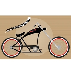 Custom cruiser bicycle vector