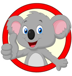 Cute koala giving thumb up vector image