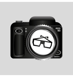 Digital photo camera glasses 3d vector