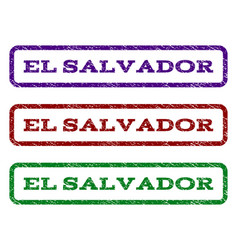 El salvador watermark stamp vector