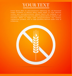 Gluten free grain icon isolated no wheat sign vector