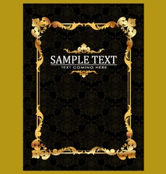 Gold frames template vector image
