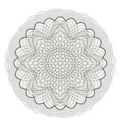 Guilloche rosette decorative abstract vector