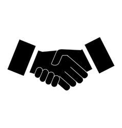 icon handshake vector image