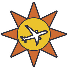 Isolated travel icon vector