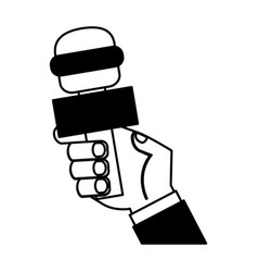 journalist microphone isolated icon vector image